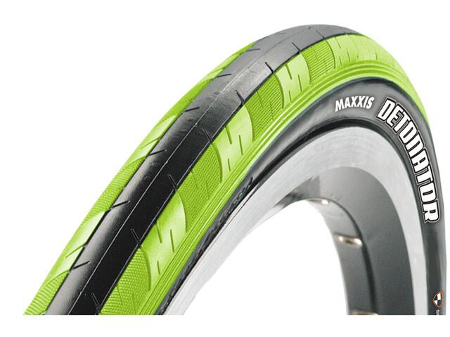 """Maxxis Detonator Tyre 28"""" Dual, foldable limegreen/black"""
